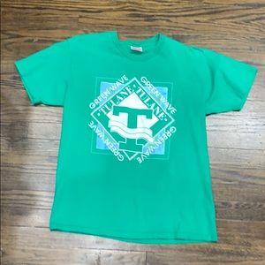 Vintage Tulane Green Wave Tee Shirt